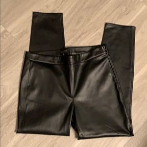 Talbots faux leather pants 10